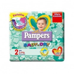 PAMPERS BABY DRY 2 - PANNOLINI MINI 3-6 KG