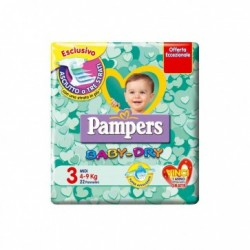 PAMPERS BABY DRY 3- PANNOLINI MIDI 4-9 KG