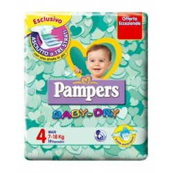 Pannolini Pampers BABY DRY 7-18 Kg - Taglia 4