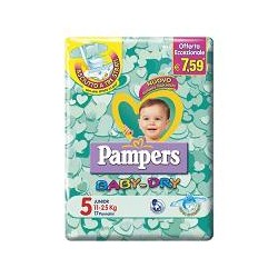 PAMPERS BABY DRY 5- PANNOLINI MIDI 11-25 KG