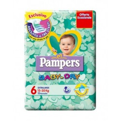 PAMPERS BABY DRY 6- PANNOLINI MIDI 15-30 KG